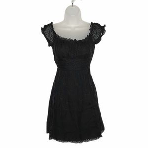 Milly of NY swiss dot silk lace empire waist dress